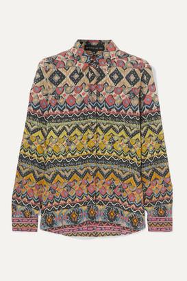 Etro Printed Silk-crepe Shirt - Blush