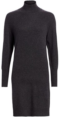 Saks Fifth Avenue Cashmere Turtleneck Sweater Dress