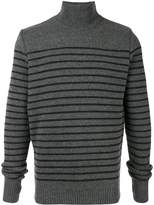 Fumito Ganryu striped turtle neck sweater