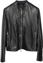 Forzieri Black Leather Motorcycle Men's Jacket