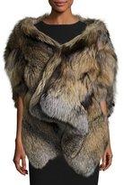 Michael Kors Cross Fox Fur Stole, Tan
