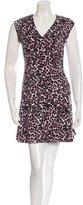Rebecca Taylor Leopard Print A-Line Dress