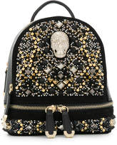 Philipp Plein embellished skull backpack