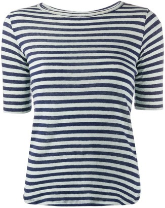 YMC striped fitted T-shirt
