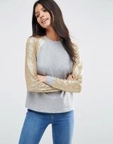 Asos Sequin Sleeve Sweatshirt