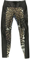 Just Cavalli Leather Skinny Pants w/ Tags
