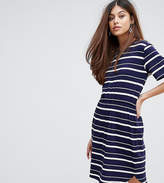 Warehouse Striped Gathered Waist Dress