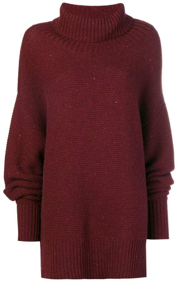 chunky ribbed knitted tunic