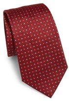 Armani Collezioni Intarsia Detailed Silk Tie