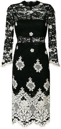 Alexis floral appliqué lace dress