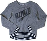 Puma Girls 7-16 Slubbed Pullover Sweatshirt