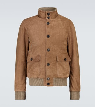 Thom Sweeney Suede bomber jacket