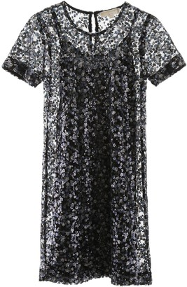 MICHAEL Michael Kors SEQUINED DRESS M Blue, Black, Purple