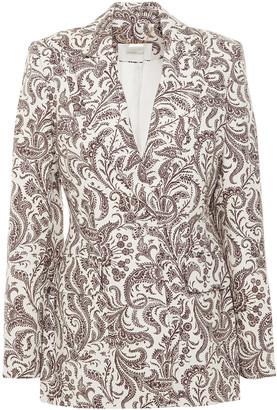 Zimmermann Printed Linen Blazer