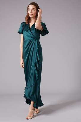 Phase Eight Womens Green Philippa Frill Bridesmaid Maxi Dress - Green