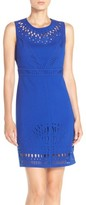 Eliza J Women's Laser Cut Crepe Sheath Dress