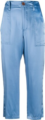 Jejia Straight-Leg Cropped Trousers
