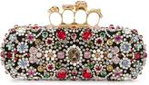 Alexander McQueen Knuckle long box clutch - women - Silk/Leather/PVC/glass - One Size