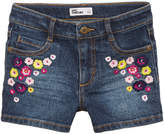 Epic Threads Floral-Embroidered Denim Shorts, Toddler Girls, Created for Macy's