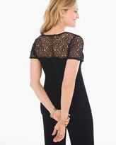 Chico's Lace-Back Top