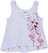 Erge Flamingo Screen Tank (Baby) - White-24 Months