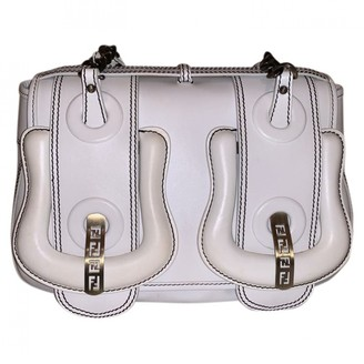 Fendi B Bag White Leather Handbags