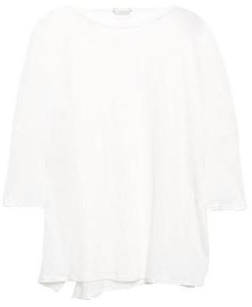 Joie Meica Slub Linen-jersey Top