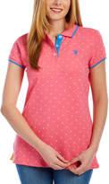 U.S. Polo Assn. Fierce Pink Pin Dot Polo