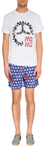 Vilebrequin Sapphire Blue/White Turtle Embroidered Trunks