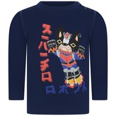 DSQUARED2 Dsquared2Baby Boys Navy Japanese Bulldog Top