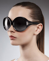 Tom Ford Ali Oversized Round Sunglasses