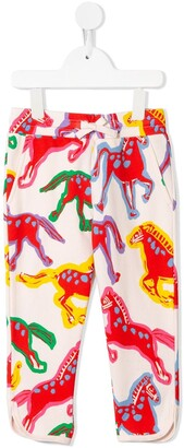 Stella McCartney Kids Horses-Print Drawstring Trousers