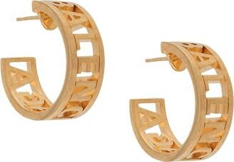 Balenciaga Logo Earrings