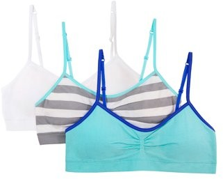 4 Pack Rene Rofe Girl Seamless Training Bra with Removable Pads