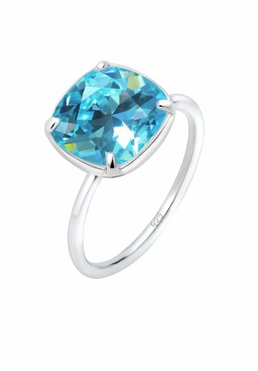 Elli Women's 925 Sterling Silver Solitaire Anniversary Ring M 0601933018_52