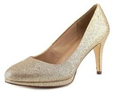 Style&Co. Style & Co Nikolet Women Round Toe Synthetic Gold Heels.