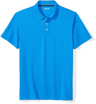 Amazon Essentials Slim-fit Quick-dry Golf Polo Shirt Electric Blue) Medium (size:):)