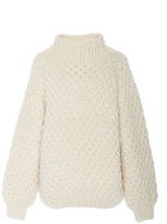 I Love Mr. Mittens Moss Stitch Turtleneck Sweater