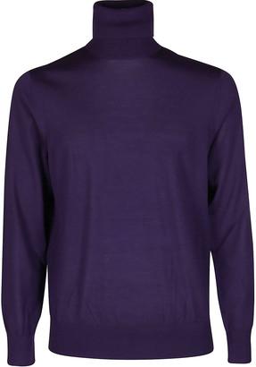 Ermenegildo Zegna Purple Wool Jumper
