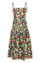 Oscar de la Renta Tank Strap Floral Dress