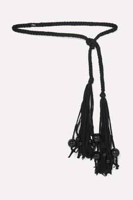Isabel Marant Tenza Bead-embellished Braided Cotton Belt - Black