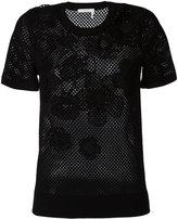 Chloé floral mesh T-shirt - women - Cotton - XS