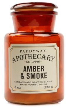 Paddywax Apothecary Amber & Smoke Glass Candle