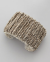 Panacea Metallic Beaded Cuff Bracelet