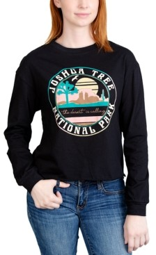 Rebellious One Juniors' Joshua Tree Long-Sleeved Graphic T-Shirt