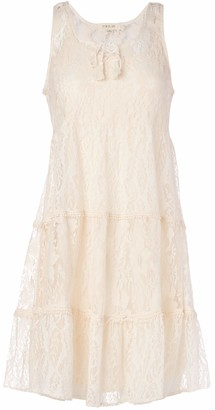 Taylor & Sage Women's Lace Tiered Baby Doll Dress