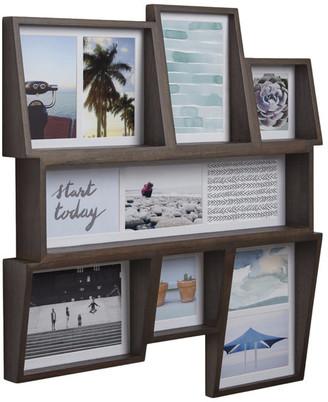 Umbra Edge Photo Display Multi Wall Aged Walnut