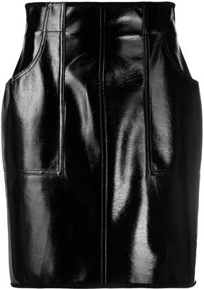Philosophy di Lorenzo Serafini High-Rise Leather-Effect Skirt