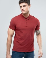 Armani Jeans Pique Logo Polo Regular Fit in Red