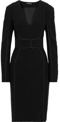 Tom Ford Tulle-paneled Crepe Dress